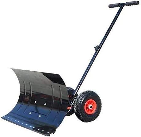 Heavy 1 year warranty Duty Snow Shovel-Adjustable Shove Pusher Spring new work Wheeled
