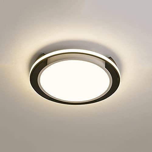 WenKaiLi Mosaico en blanco y negro simple LED LED ultra delgada de montaje en descarga, emisor lateral, regulable, con lámpara de acrílico Lámpara de techo, decoración interior cerca de accesorios de