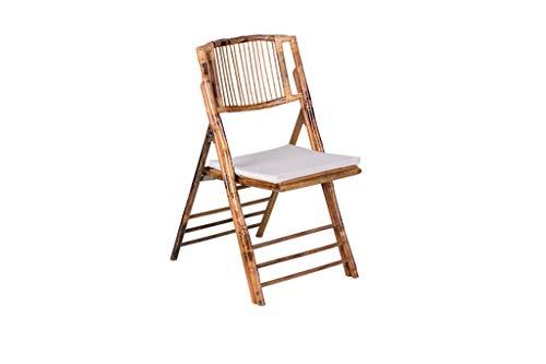Destello S.L. Silla bambú Plegable con cojín Ancho:47 cm Alto:86 cm Longitud:45 cm