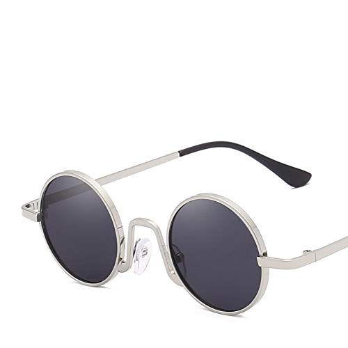 YIWU Brillen & Zubehör 2019 Sonnenbrille Retro Kleine Kiste Hiphop Runder Rahmen Trend Unisex Schatten Brille Anti-UV Göttin Netter Stil (Color : 2)