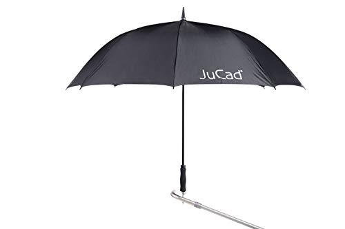 JuCad Schirm Automatik I Golf I Caddy I Trolley schwarz