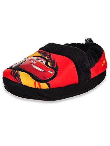 Disney Cars Slipper CH50312 Boys' Toddler Slipper M Black-Red