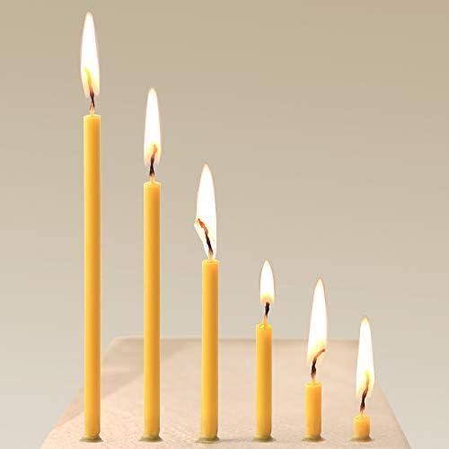 50 St/ück - 250g. 18.5 cm Danilovo Bienenwachskerzen Ritualkerzen Altarkerzen Kirche Bienenwachs Kerzen Orthodox N80 H/öhe