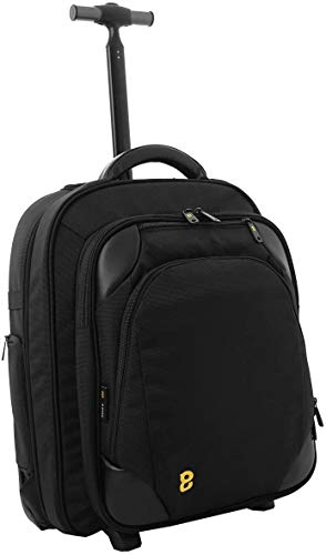 Gate8 Large Folding Travel Backpack Cabin Luggage Hand Carry Trolley Holdall in Black