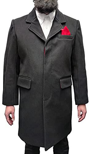 Relco Herren Mantel - rot gefüttert - 80% Wolle - 60er Jahre/Mod-Stil - S-3XL
