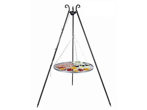 Schwenkgrill Nortpol Farmcook mit Rost aus Rohstahl 70 cm inkl. Dreibein und Kette, ohne Feuerschale
