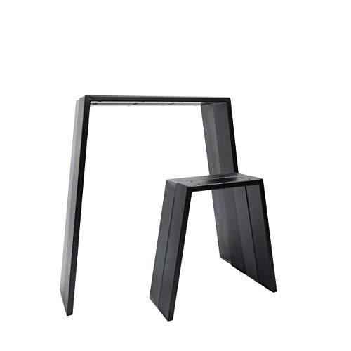 2x Natural Goods Berlin Design Tischkufen viele Modelle Metall Tischbeine | Tischgestell aus Stahl | Esstisch, Schreibtisch, Couchtisch, Bank (CLASSIC H72cm, Schwarz)