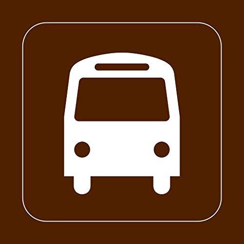 Placa cuadrada de metal con letrero cuadrado de 30 x 30 cm, parada de autobús, parque recreativo, campamento forestal, hogar, cocina, oficina, jardín, garaje, pared, decoración de calle, placa nueva