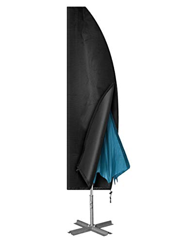 Chenci Copertura per Ombrellone Giardino 3x3m,4x4m Impermeabile Copri Ombrellone Oxford 410D,Anti-UV  Pioggia Polvere Sole