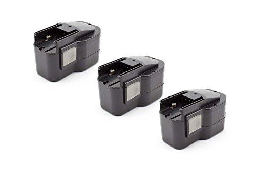 vhbw 3x NiMH batterie 1500mAh (12V) pour outil électrique outil Powertools Tools Milwaukee PES 12 T, PJX 12PP, PLD 12 X, PN 12PP, PPS 12PP, PSG 12PP