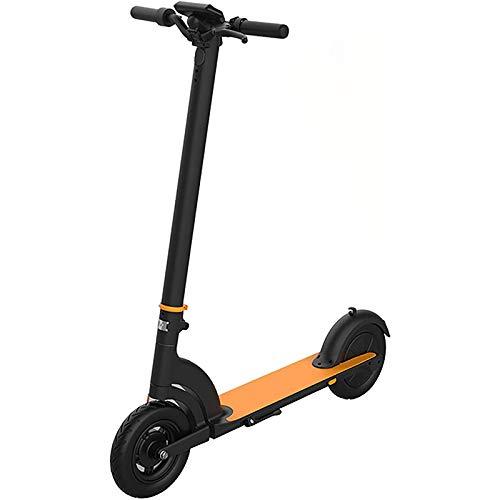 WWJL Scooter eléctrico, Scooter de Patada eléctrica con luz LED Doble Freno, 30 km de Largo Alcance a Prueba de Golpes de 10 Pulgadas, para Adultos y Adolescentes