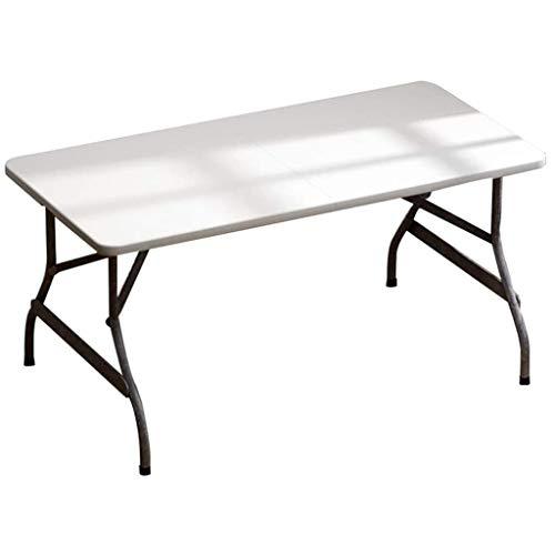 Mesa plegable GJ, mesa de trabajo, mesa de comedor portátil en casa, mesa de ordenador, mesa de estudio, apta para interiores y exteriores (152 x 71 x 72 cm), mesa de 3 colores (color B: B)