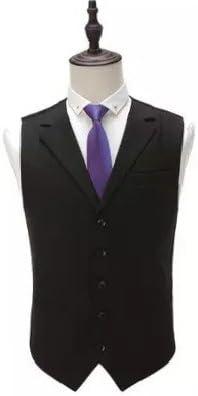 HZWL Men's Five Colors Five Button Slim Fit Tuxedo Vest Dress Vest