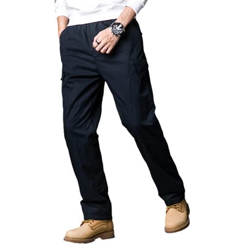 Huntrly Pantalones Deportivos para Hombre, Pantalones Holgados de Moda con múltiples Bolsillos Europeos y Americanos, Pantalones para Acampar al Aire Libre, Pantalones de Trekking L