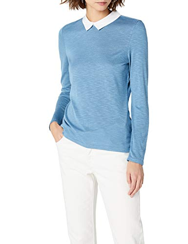 ESPRIT Damen 998EE1K805 Langarmshirt, Blau (Grey Blue 5 424), Medium