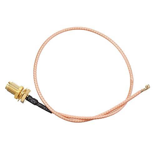 Lishaodonglishaodon Cordón de extensión de 25 cm U.FL IPX a RP-SMA Distaff Antenna RF Pigtail Cable JUMERO para PCI WiFi Card RP-SMA Jack a IPX RG178