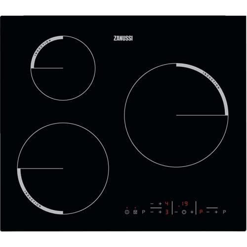 Placa de inducción Zanussi ZIB6360CB con 3 zonas de...