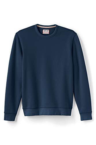 Lands' End Herren Sweatshirt mit rundem Ausschnitt 44-46 Blau - Classic Navy