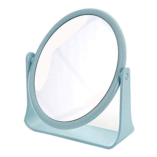 Girl Heart Doppio Specchio Specchio Dormitorio Desktop Studente Trucco Piccolo portatile Dressing Principessa Net Red Desk Four Colors 15x18cm (Colore: Blu) Specchio per il trucco ( Color : Blue )