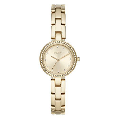DKNY City Link 3-Zeiger-Uhr aus goldfarbenem Edelstahl NY2825