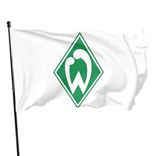 Willkommensflagge,Garten Flagge,Dekoration Flagge,Außenflagge,Verandafahne,Werder Bremen Logo Flagge Luv Flagge,Haus Hof Flagge,3'X5'Ft Künstliche Flagge