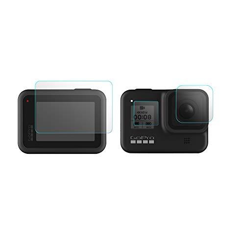 XIANGMENG Protetor de tela SunnyLife de 0,33 mm para GoPro Hero 8 preto, protetor de tela de vidro temperado ultra transparente + protetor de lente + película de exibição pequena + acessórios de pacote de instalação