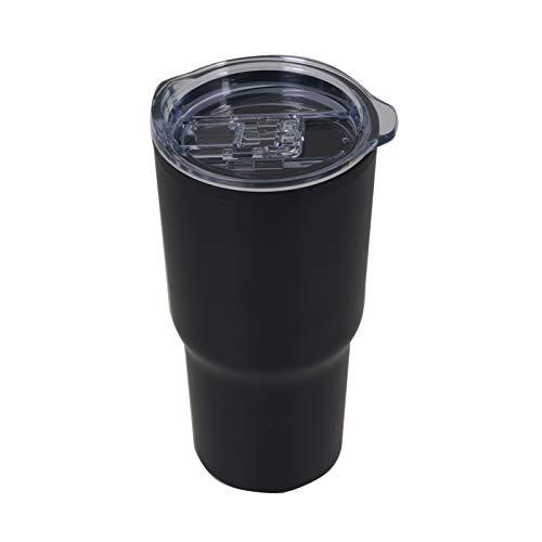 ZHAOLU Taza de café para coche, reutilizable, 590 ml, con tapa a prueba de manchas, color negro