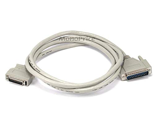Monoprice 100257 6-Feet DB-25 (IEEE-1284) Male to Mini/Micro Centronic 36 (HPCN36) Male Cable [IE] (100257)