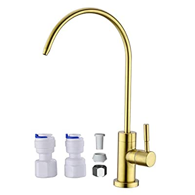 Anpean Drinking Water Faucet, Lead-Free, SUS304 Stainless Steel Kitchen Water Filter Faucet for Reverse Osmosis and Water Filtration Systems, Brushed Nickel