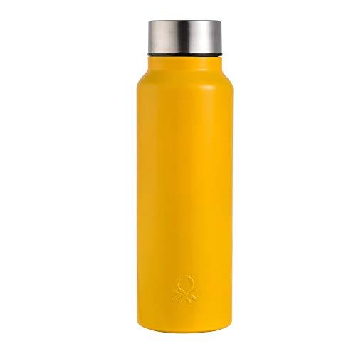 UNITED COLORS OF BENETTON. BE096 Botella agua 750ml acero inoxidable amarillo Casa Benetton