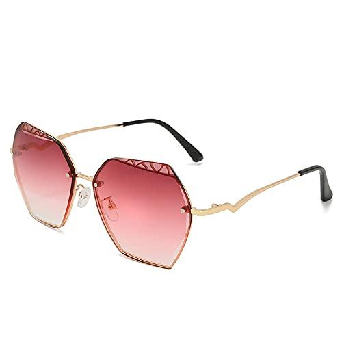 HAOMAO Gafas de sol fotocromáticas sin montura con lentes de corte Uv400 con marco de aleación vintage para mujeres y hombres 4