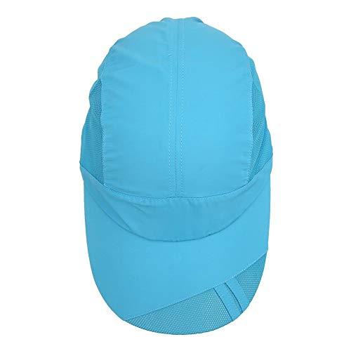 Huakii Sombrero de Malla Azul para Peces, Gorra para el Sol, Protector Solar para Caminar, Escalar, Pescar(Outdoor Fishing Cap)