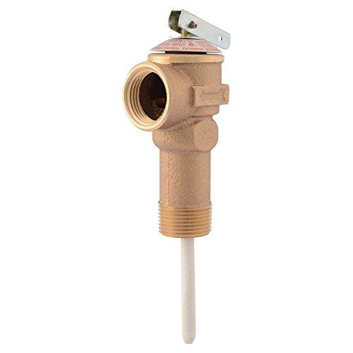 Cash Acme 18821 0150 Temperature and Pressure Relief Valve NCLX-5L, 3/4 in, Brass