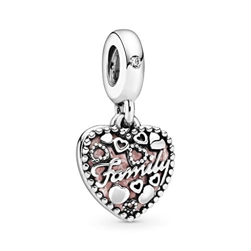 Pandora 925 plata esterlina colgante de la joyería de la plata esterlina pingente compatível com pulseira coração de família amor prata