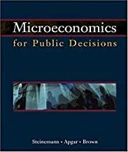 Microeconomics And Public Decision Making