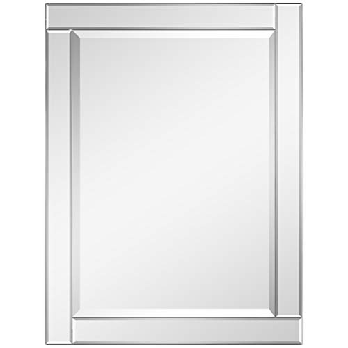 Empire Art Direct Modern Rectangle Wall Mirror for Vanity & Bathroom Solid -