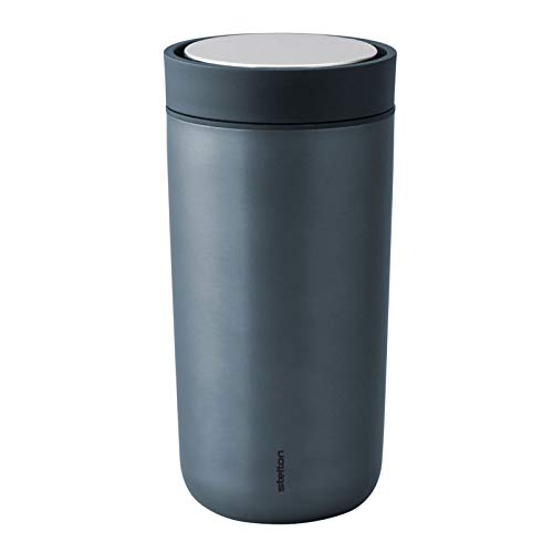 Stelton - Thermobecher - Trinkbecher - to go Click - 0,4 L - blau metallic