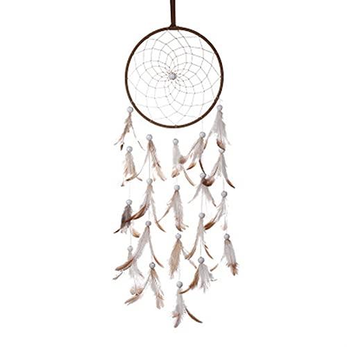 TYUTYU Chica corazón Dream Catcher National Feather Ornamentos Cintas de Encaje Plumas Luces envueltas Chicas Sala Decoración Dreamcatcher (Color : Normal)