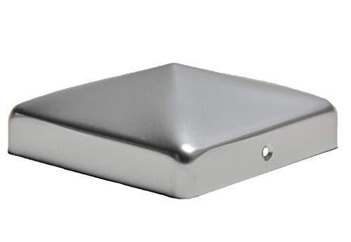 Pfostenkappe aus Aluminium Pyramide für Pfosten 12x12 cm inkl. VA-Schrauben Zaunkappe Pfahlkappe ALU 121x121 mm DD