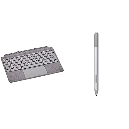 Microsoft Surface Go Signature Type Cover, Platin Grau (Deutsches Tastaturlayout;QWERTZ) und Surface Pen Platin Grau