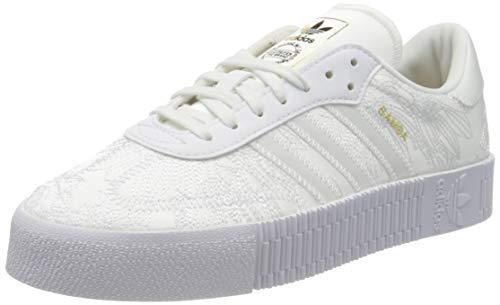 Adidas Sambarose, Zapatillas Clasicas Mujer, Blanco (Cloud White/Cloud White/Gold Metal), 39 1/3 EU