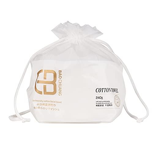 Montloxs Rollo de tejido de algodón facial Almohadillas de algodón suave desechables Uso seco y húmedo Toallita de algodón limpiadora para limpieza facial