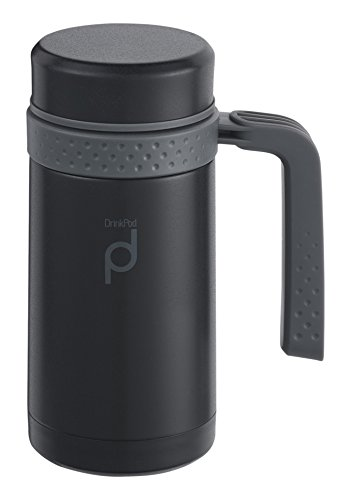 Pioneer Flasks Thermobecher, 18/10 Edelstahl, Mattschwarz, 0,45 L