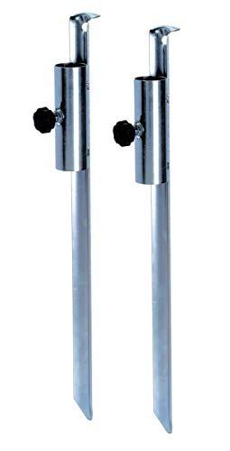 Spetebo Metall Sonnenschirmhalter 50 cm - 2 Stück - Sonnenschirm Halterung Erdspieß Bodenhülse Rasendorn Bodenspieß