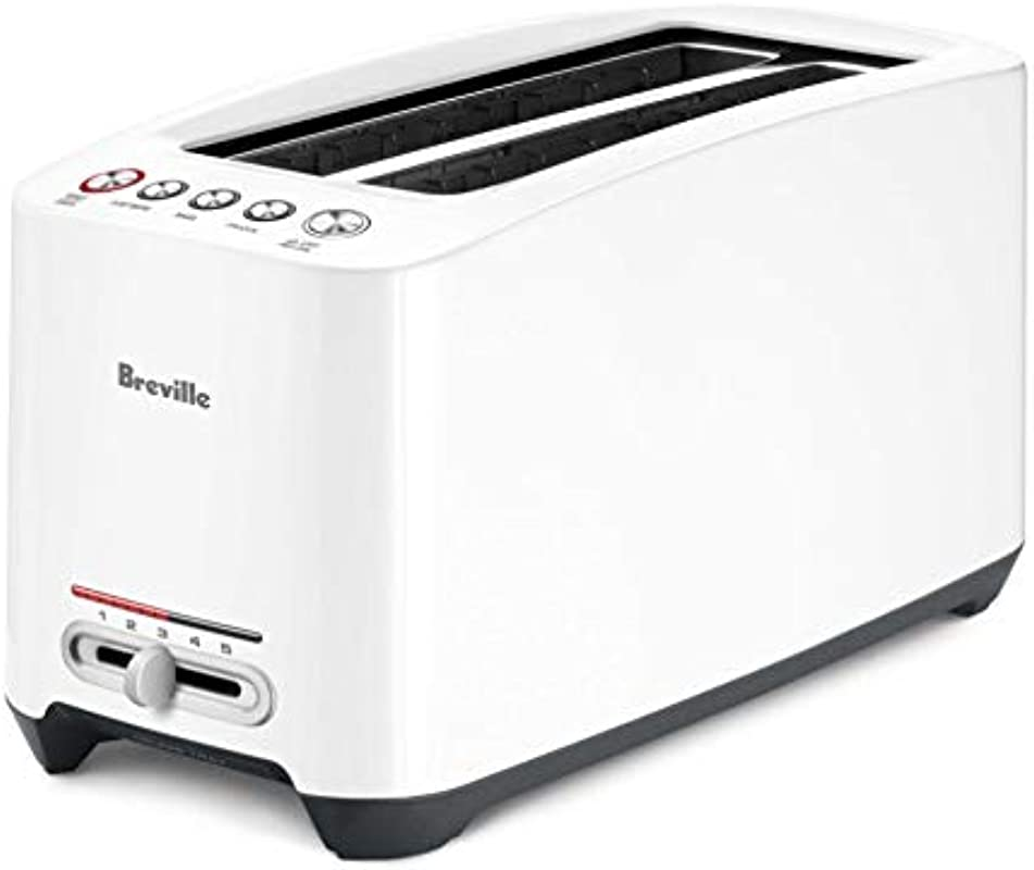 Breville The Lift Look BTA630XL One Touch Extra Long 4 Slice Toaster White