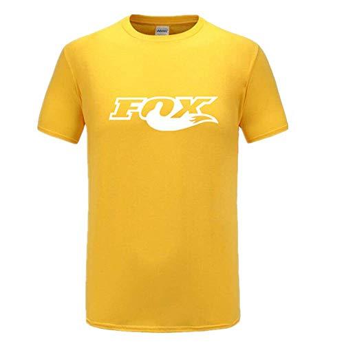 Lustiges Herren-T-Shirt mit Fuchs-Aufdruck, Rundhalsausschnitt, Unisex-T-Shirt Gr. M, gelb