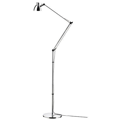 IKEA ANTIFONI - lampa stojąca / do czytania niklowana