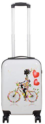 Warenhandel König Polycarbonat Hartschalen Koffer Trolley Reisekoffer Reisetrolley Handgepäck Boardcase Motiv PM (Martinique, Größe M)