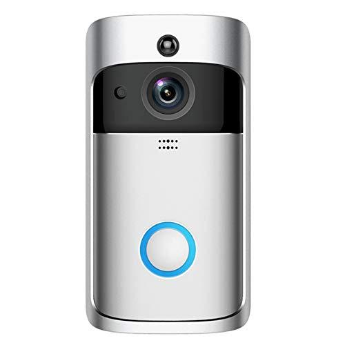 Festnight Ring Video Doorbell, Nuovo Stile V5 Cloud Storage Campanello Visivo Senza Fili WiFi Monitoraggio Remoto del Citofono Vocale Uso Domestico Campanello Intelligente