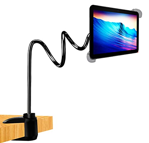 Soporte Tablet Cama Mesa Pared Compatible con iPad Material de Acero Inoxidable sujecion a Cualquier Superficie Compatible con iPad 10.2 Pro 11 12.9 Air 10.9 Mini